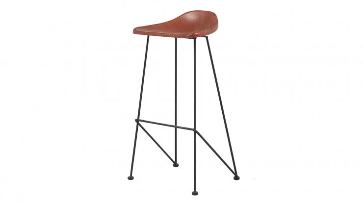 Melissa barstol brunt lädersvart